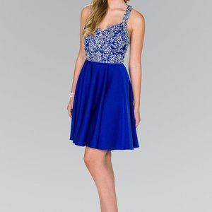 Sequin Bodice Short A-Line Prom Dress GS2412